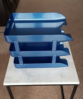 RISERS - 24HR DEL ie. 10 COMPLETE SETS 30 x BLACK IN//OUT LETTER FILING TRAYS