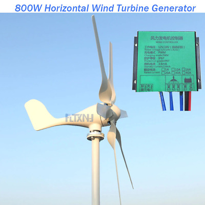 Hot Start Up 1.3M/S New 800W 12V 24V Wind Turbine With 6 Blades And Pwm Charge C