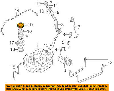 New Genuine OEM Fuel Tank Lock Ring Gas New Mazda 3 BN8F-42-166 BN8F-42-167