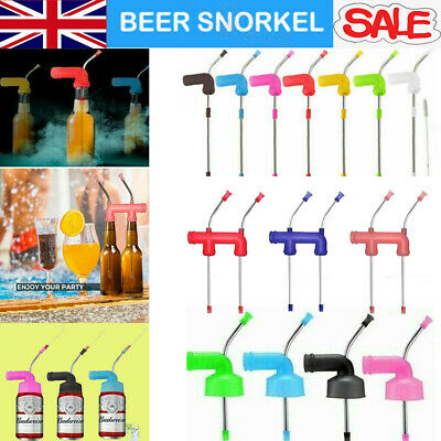 2020 Beer Bong Funnel Snorkel Drinking Straw Drink Games Party Entertainment US