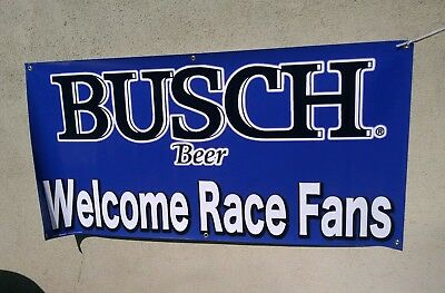 """Busch  WELCOME Hunters  VINYL BANNER  60/""""X30/""""  really nice look.. #3"""