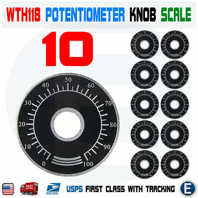 10Pcs 0-100 WTH118  WX112 RV24YN Potentiometer Knob Scale Digital Scale KHH/_sg
