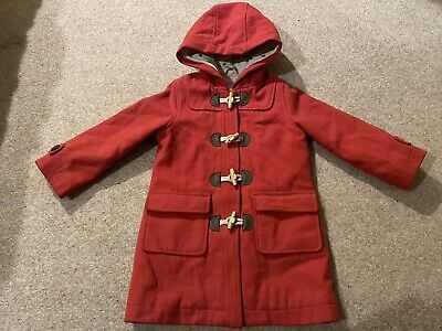 BODEN GIRLS WOOL MIX WINTER TRADITIONAL DUFFLE COAT AGES 2-16 BNWOT RED //CAMEL