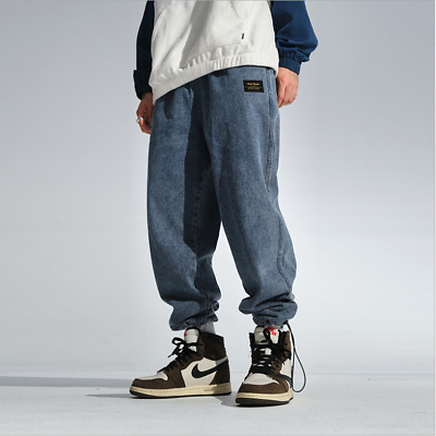 Mens Boys Baggy Trousers Jogger Denim Pants Leisure Harem Casul Pants Jeans NEW