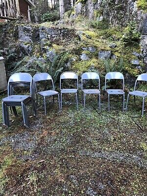 100 Vintage Metal Chairs 1940's Royal Metal Manuf Co Chairs Industrial Steampunk