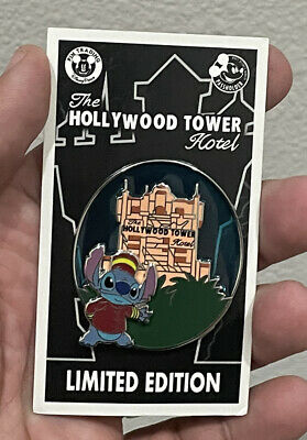 Disney Hollywood Studios Stitch Tower Of Terror Passholder Pin LE 2500 New