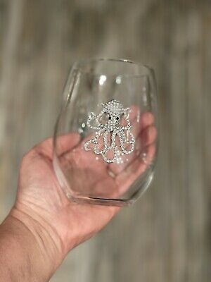 20oz Steampunk Octopus Wine Glass L1
