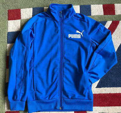 Puma Full Zip Tracksuit Top, 9-10yr, Blue