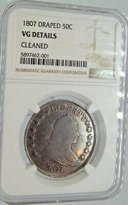 1807 Draped Bust Half Dollar NGC VG Details Cleaned Free Return