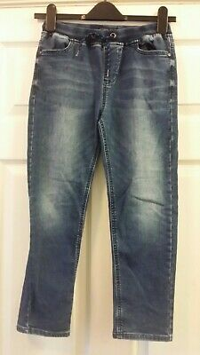 °Next Boys Size 10 years Dark-Wash Blue Faded Jeans