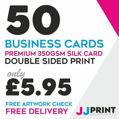 FREE ARTWORK! 500 BUSINESS CARDS FULL COLOUR 350gsm