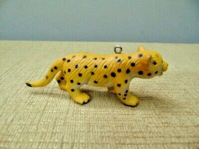 1994 Panther Jaguar Cheetah cat pup charm pendant figure tiger toy spotted