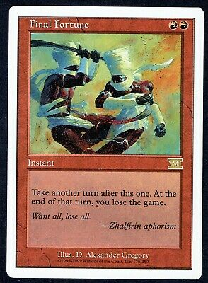 MTG 6TH EDITION FINAL FORTUNE NM MAGIC THE GATHERING RARE INSTANT RED ENGLISH