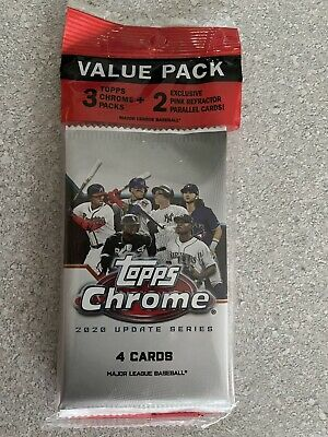 2020 Topps Chrome MLB Update Series Baseball Value Fat Pack Factory Sealed MLB