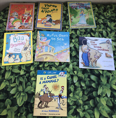 Story Time Assorted Bundle/ Lot of 7 Story Books for Kids/Toddlers/Daycare MIX