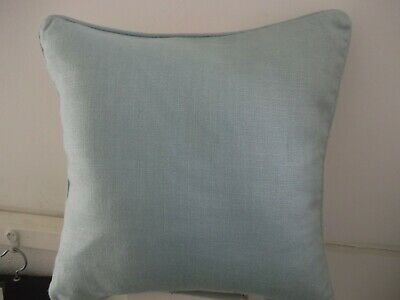 Laura Ashley Cottonwood Duck Egg Cushion Cover 16/'/' with piped edge /& plain back