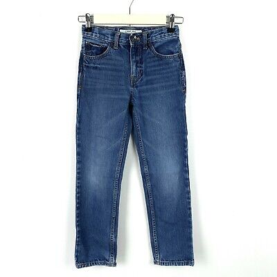 Cherokee Boys Size 8 Skinny Jeans Blue Adjustable Waist 100% Cotton
