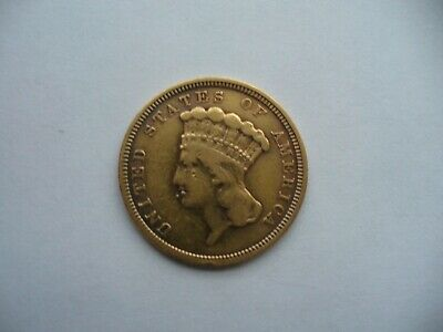 1854- $3 Indian Princes Head Gold