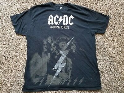 ACDC Highway To Hell Graphic T Shirt Mens Rockware XXL 2XL Black