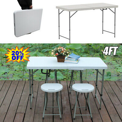 Aluminum Portable Adjustable Folding Table Camping Outdoor Picnic Party BBQ 4FT