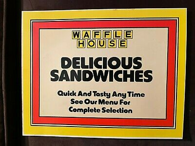 Rare Original old Waffle House sign