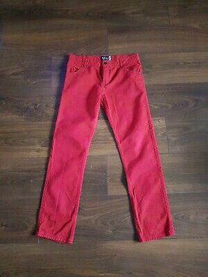 DEBENHAMS Blue Zoo Boys Red Jeans Size 14 Years Old
