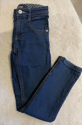 Mini Boden Boys Girls Age 7 Skinny Stretchy Jeans Dark Washed Blue