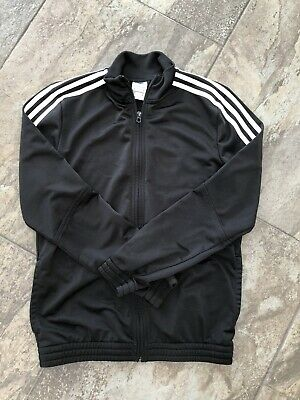 Kids Childrens Adidas Black Tracksuit Jacket Age 13-14