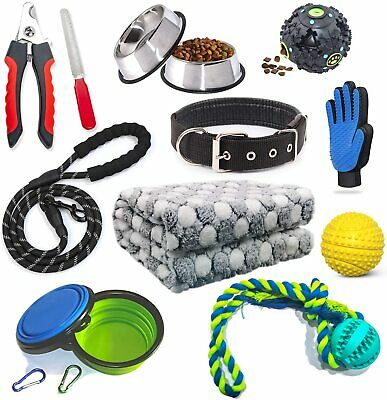 Puppy Starter Kit 12 Piece Dog Accessories Supplies for Small Dogs Includes Dog