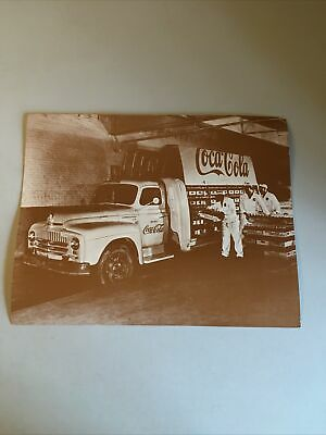 Coca-Cola 11x14 Black White Photo Print -- Delivery Truck w/ 3 Workers Loading