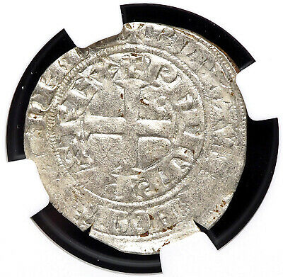 FRANCE. Philip VI, 1328-1350, Silver Gros Tournois, NGC MS61