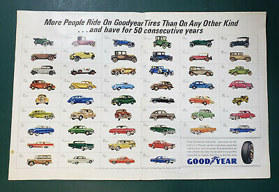 Vintage Goodyear Advertisement 1965 Magazine Two-page Ad