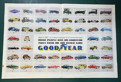 Vintage Goodyear Advertisement 1962 Magazine Two-page Ad
