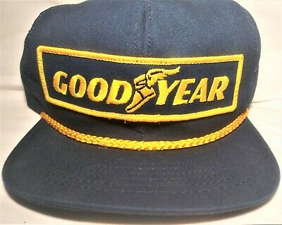 Vintage GOODYEAR Snapback Trucker Cap Hat Patch SWINGSTER Made In USA