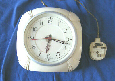 Vintage Smiths Sectric Art Deco Electric Wall Clock Early Plastic Case