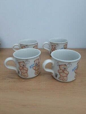 99p start  for 4 x Teddy Bear Mug Cup
