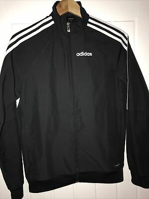 Boys Adidas Climate Sports Jacket Black Size Adult XS