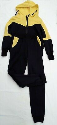 Yellow and Black Fleece Style Tracksuit ~ Joggers ~ Jogging Bottoms ~ Hoodie