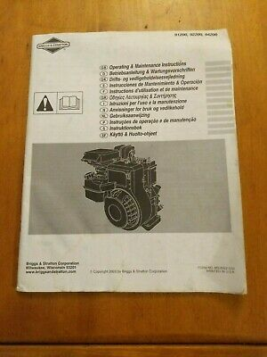 Briggs & Stratton operating and maintenance instructions for models 91200, 92200