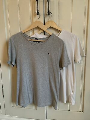 Tommy Hilfiger 2 X Boys Grey & White T Shirts Age 14