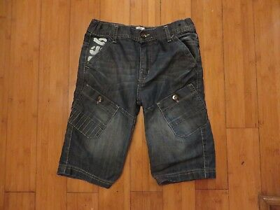 boys boy shorts age 9-10 years blue denim no on back and front adjustable waist