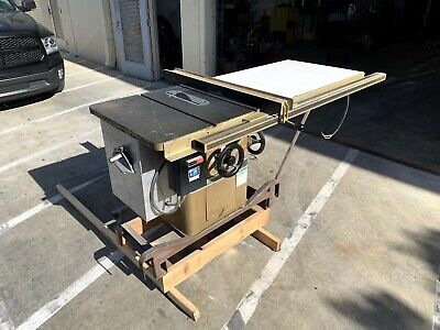 """Powermatic model 66 10"""" table saw with 50"""" Biesemeyer fence and sliding table."""