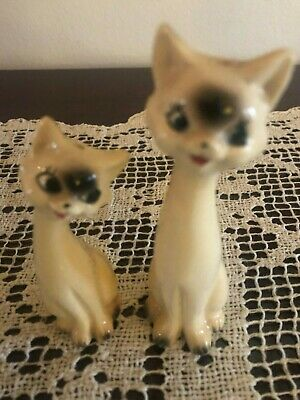 Vintage Siamese Cats Salt and Pepper Shakers Made in Japan
