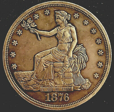 1876~Trade Dollar~ Proof-Almost Uncirculated-Type I/2