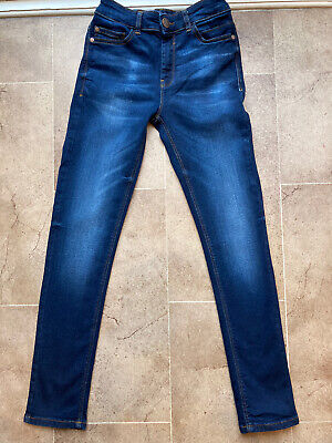 Boys Next Skinny Fit Blue Denim Jeans Age 11 Smart Casual