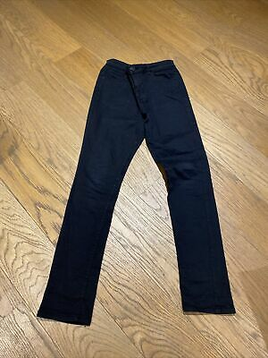 River Island Boys Black Skinny Jeans Age 12 Years Used