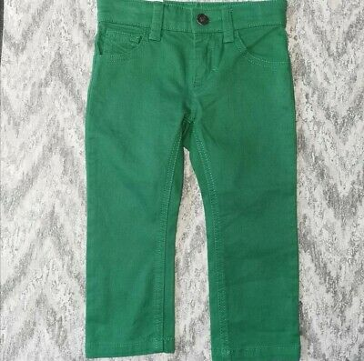 Age 1-2yrs Green Skinny Jean Benetton New No Tag