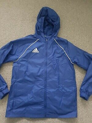 Adidas Unisex Boys Girls Blue Rain Shower Coat Jacket 13-14 Years Hardly Worn