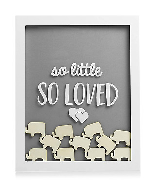 Pearhead Little Wishes Signature Baby Shower Guestbook Sign Frame, Great Guestbo