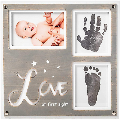 1Dino Newborn Baby Handprint and Footprint Picture Frame Kit -Special Cut 12.6